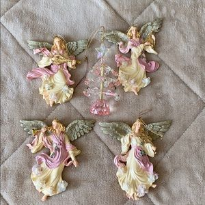 Angel and Christmas tree ornaments